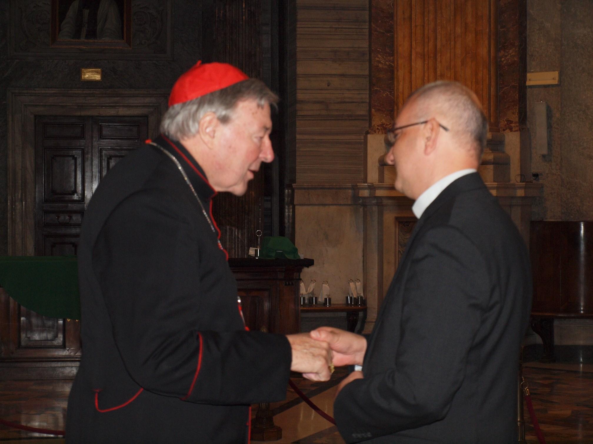 Fr Martin with Australian Cardinal George Pell